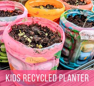 Kids Recycled Preschool Planter