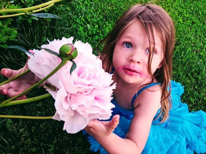 Lipstick Flower Girl - Peony