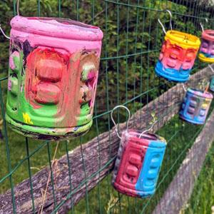 Kids' Flower Pot Craft with Plastic Bottle from Gatorade