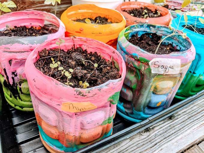 Handmade Recycled Flower Pots
