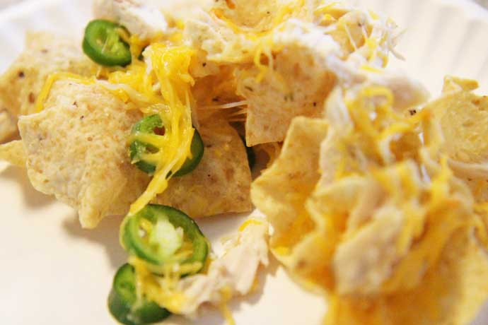Chicken Nachos Recipe - Easy
