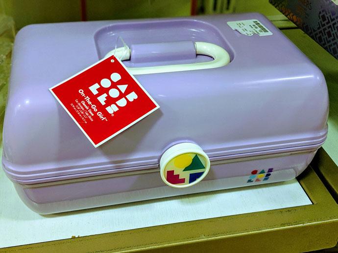 Light Purple CABOODLES Makeup Organizer Storage for Seeds until Next Season