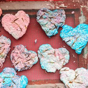 Easy DIY Tie-Dye Heart Art Seed Paper (Plantable!)