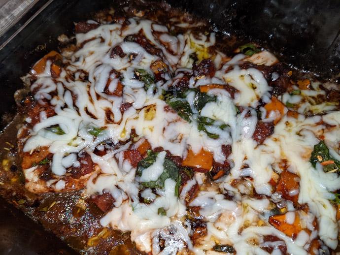 Easy Balsamic Bruschetta Chicken Bake