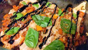 Healthy Bruschetta Chicken Bake