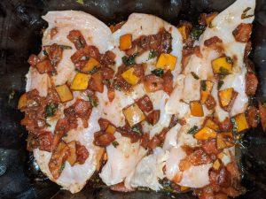 Raw Bruschetta Chicken with Roma Tomatoes