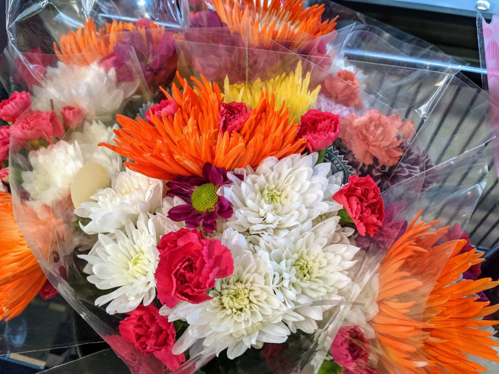 Gorgeous Lidl Bouquet with Pink, Orange, White, Purple, and Yellow Flowers
