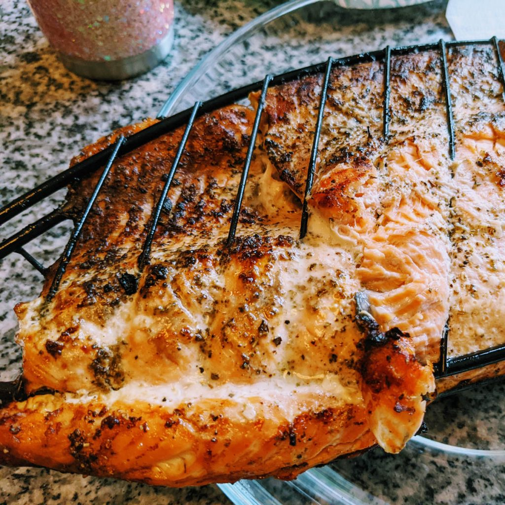 Grilled Herb Butter Salmon