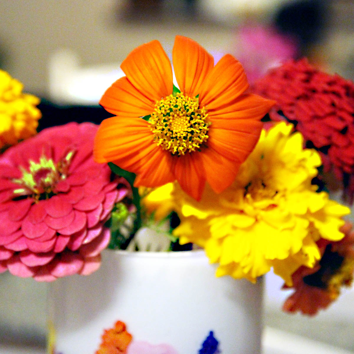 Mexican Sunflower Bouquet with Zinnias