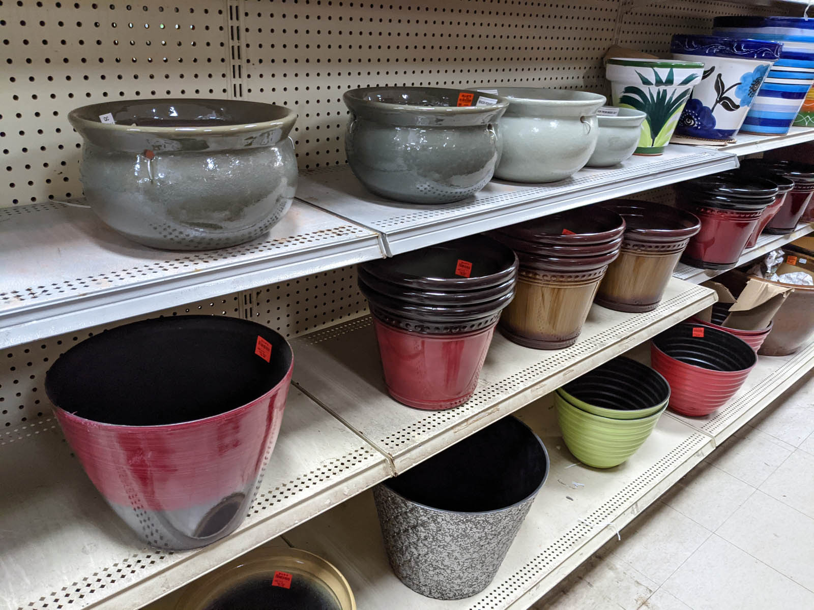 Variety of Beautiful Colored Flower Pots and Planters at Ollies