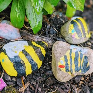 Painted Rock Bees | Bumble Bee Art Preschool Age
