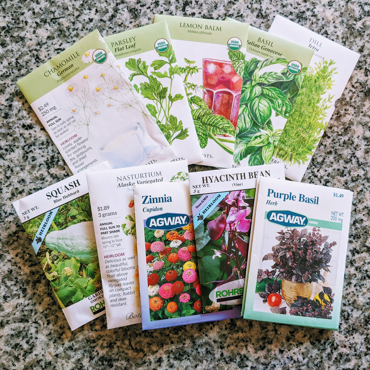 Agway Clearance Seeds purchased for 25% off in mid-September 2021