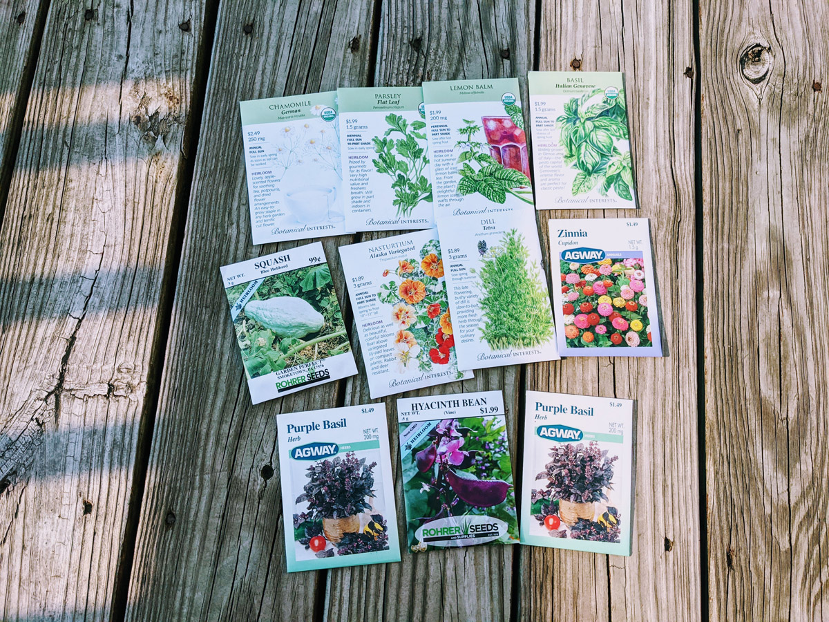 Discount Seeds Haul purchased in September 2021