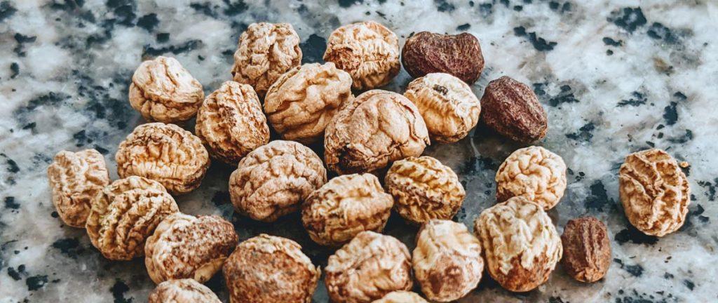 How to Save Nasturtium Seeds - Brown Seeds that Look Like Brains on a Granite Table