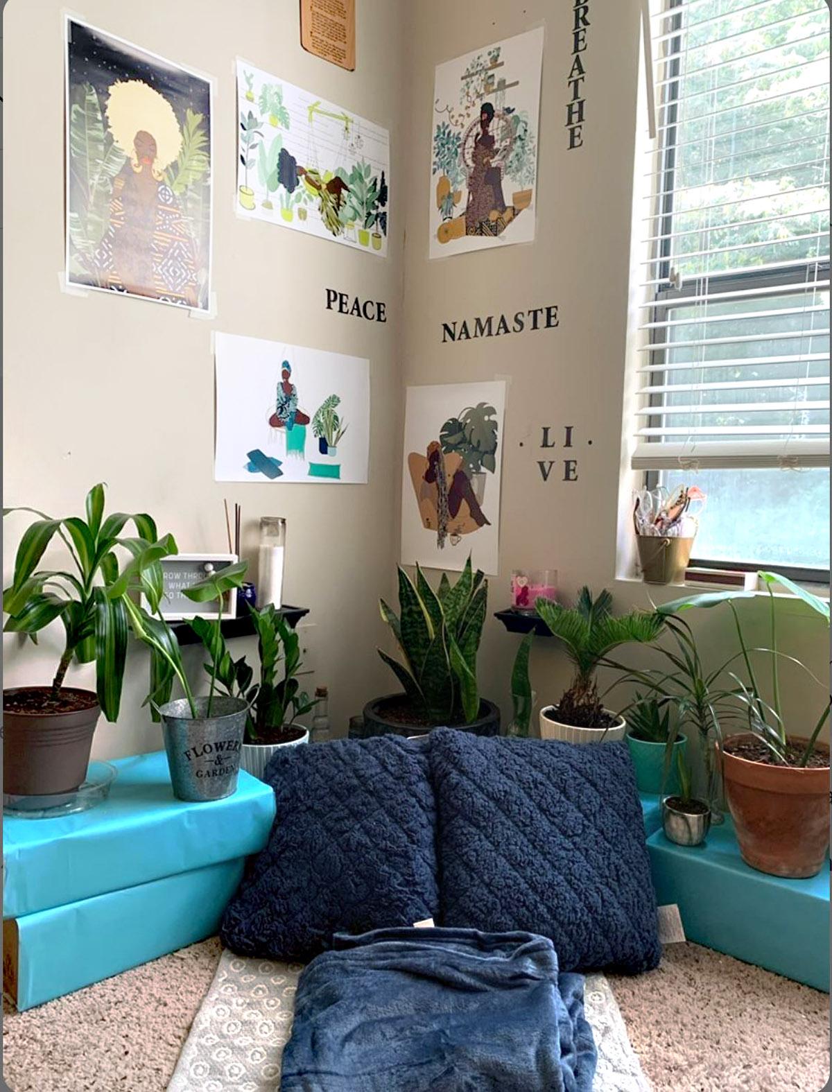 Plant Meditation Room by @quay_nicole on Instagram